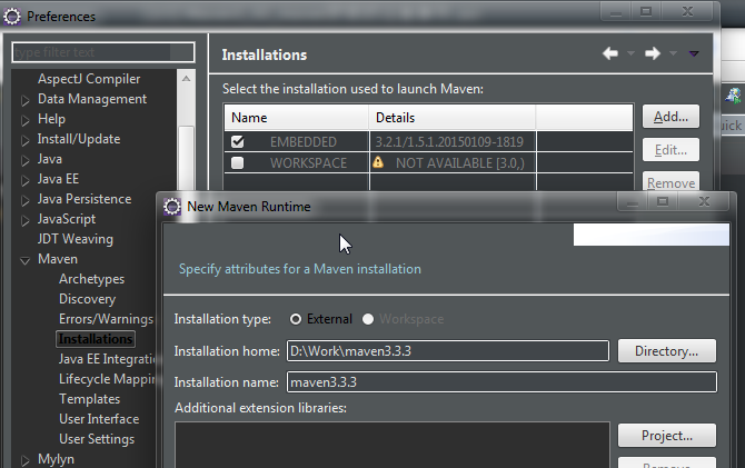 Maven-Eclipse-Setting1