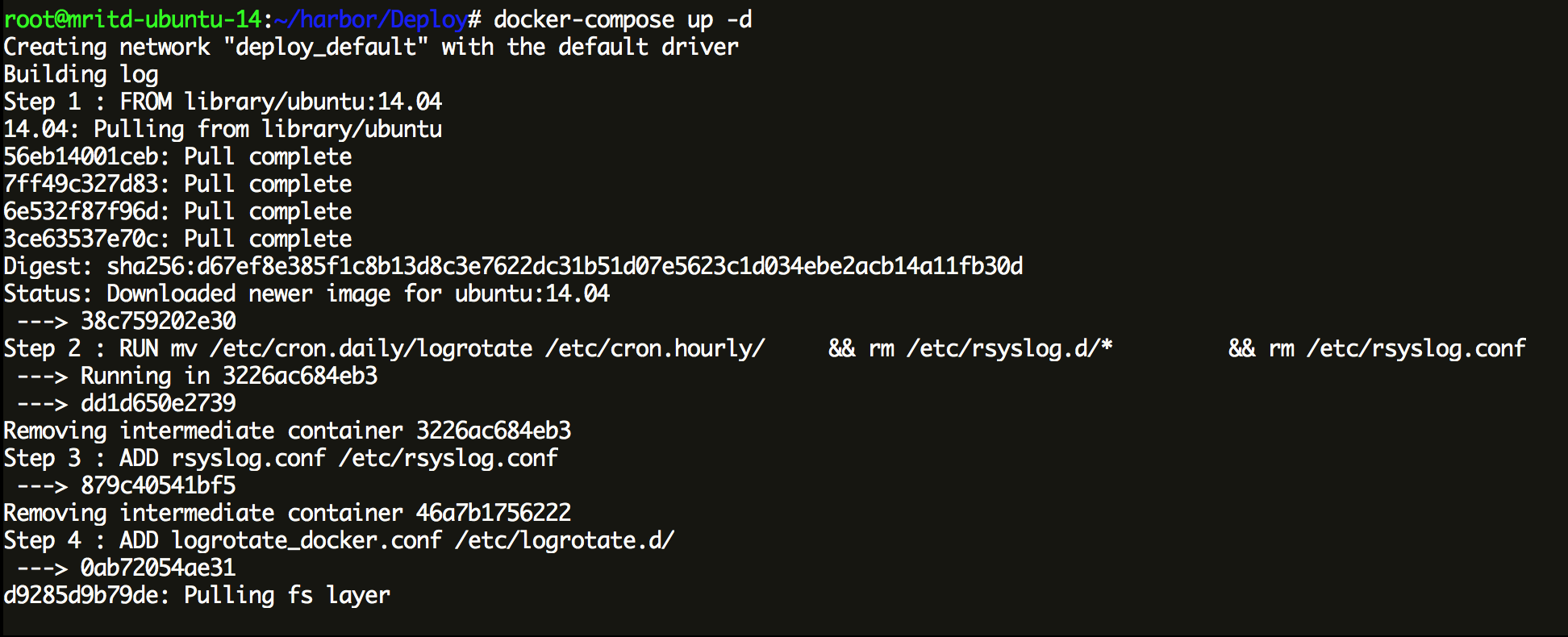 hexo_docker_harbor_up